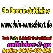 40cm, 5 Stück Domainaufkleber, Text & Farbe frei wählbar, www.dein-wunschtext.de