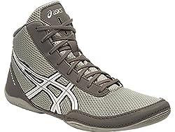 Asics Mens Metflex - 5 Light Grey, White and Black Wrestling Shoes - 10 UK/India (45 EU)(11 US)