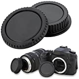 Camera Front Body Cover + Rear Lens Cap Hood for DSLR SLR Canon EOS EF EF-S EFS Rebel T1i