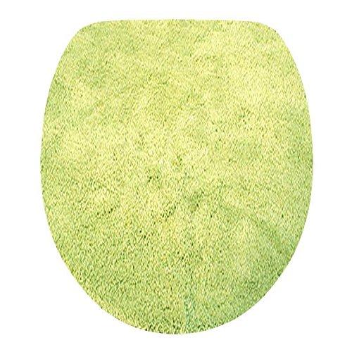 Toilettendeckelbezug/ WC-Stoffbezug - Mikrofaser-Klodeckelbezug, 15mm Flor, Gummizug, oval ca. 47x50cm, in der Farbe kiwi