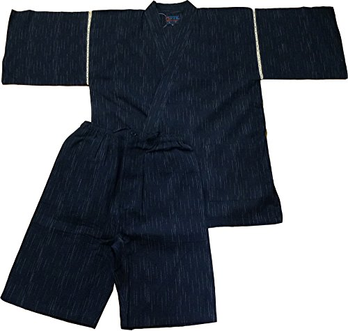 Edoten Japanischer Kimono Jinbei Schwarz