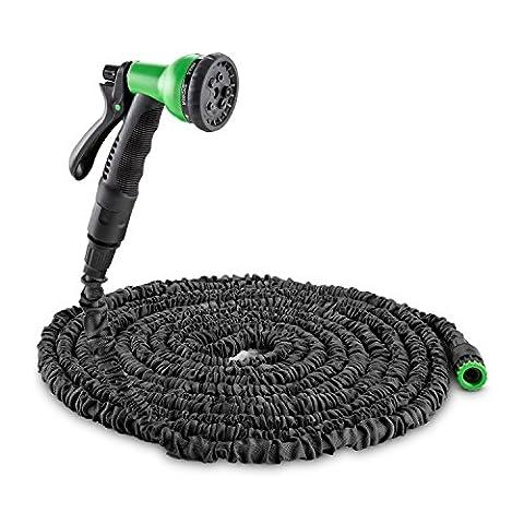 Waldbeck • Water Wizard 30 • flexibler Gartenschlauch • Wasserschlauch • Flexschlauch • Bewässerung • 8 Funktionen • dehnbar bis 30 Meter • Sprühbrause • selbstaufrollend • Wasserhahn Adapter • Schnellkupplung • knickfest • federleicht •