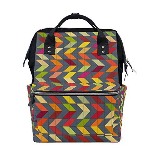 COOSUN Grau Chevrons Windel-Tasche Rucksack, große Kapazitäts-Muti-Funktion Spielraum-Rucksack Groß mehrfarbig