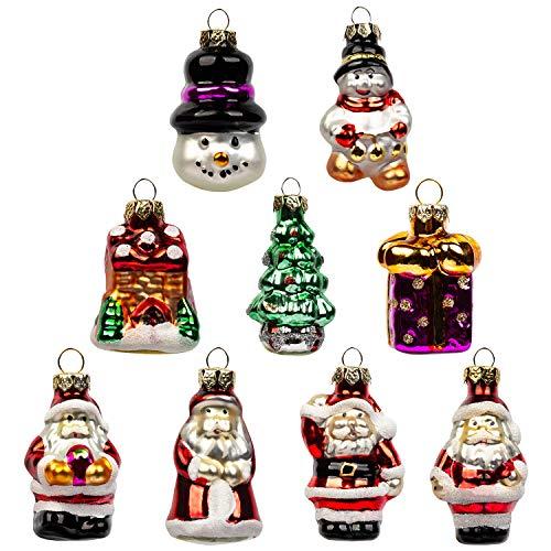 (Kunst Beauty Miniatur Weihnachtsbaum Christbaumkugeln Figuren 9 Stück für Weihnachtsdekoration Hochzeitsfeier Bankett (klassische Figuren Set))