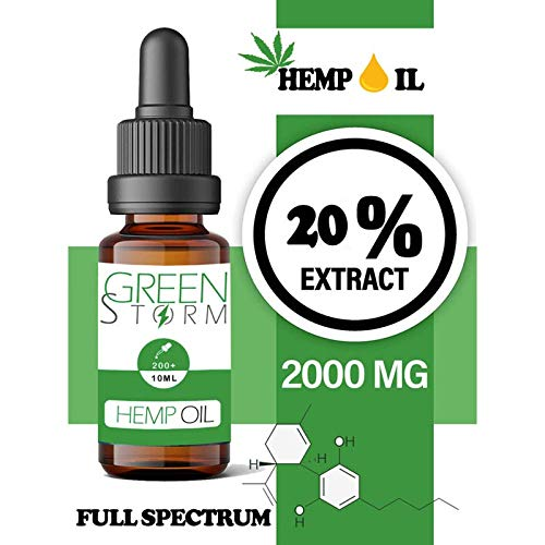 Huile de chanvre spectre complet 20% 2000mg 10ml | Hemp Oil Full spectrum|
