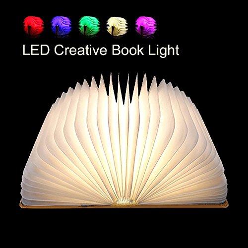 Magnetische Kreativ (Flying Rabbit Faltbare Buch-Licht LED-Stimmungsbeleuchtung, Magicfly USB Wieder Aufladbares Buch Lampe, Magnetisches Design - Kreatives Geschenk Zum Valentinstag (1 pcs))