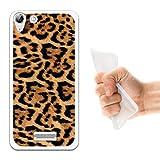 WoowCase Wiko Selfy 4G Hülle, Handyhülle Silikon für [ Wiko Selfy 4G ] Tier Leoparddruck Handytasche Handy Cover Case Schutzhülle Flexible TPU - Transparent