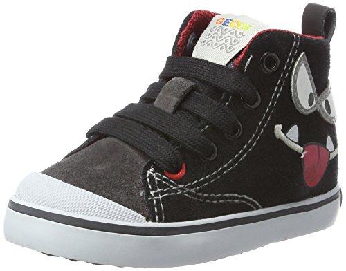 Geox Baby Jungen B Kiwi Boy C Sneaker, Schwarz (Black/Dk Grey), 22 EU - Kid Wollte Boy Schuh