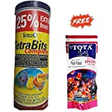 Generic Tetra Bits Complete Fish Food For Growth & Health 25% Extra Free - 375gm | With Toya Special Fish Food - 200 Gm 100% Free By Pawsitively Pet Care