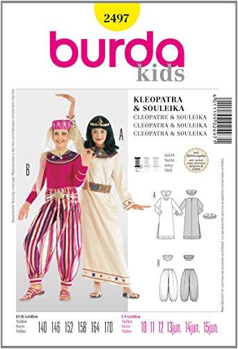Burda B2497 Patron de Couture Cléopâtre et Souleika 19 x 13 cm