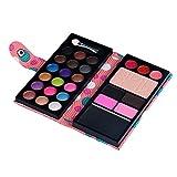 SMILEQ 26 Farben Lidschatten Make-up Palette Kosmetik Lidschatten Blush Lipgloss Pulver (One Size, Rosa)