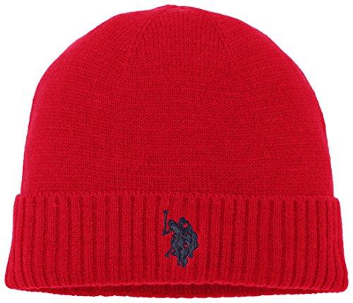 U.S.POLO ASSN. Uspa Plain Hat, Cappello Uomo, Rosso, Taglia Unica