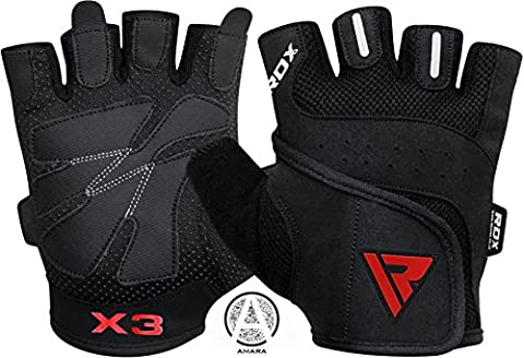 RDX Gym Weight Lifting Gloves Leather Workout Fitness Crossfit Bodybuilding