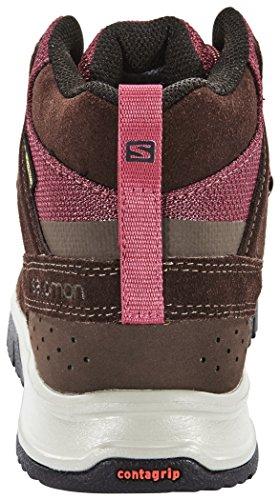 Salomon Instinct Travel Mid GTX - Chaussures - marron/violet 2015 chaussures loisirs trophy brown ltr/bordeaux/papaya-b