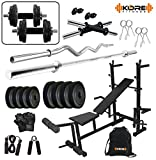#3: Kore 50Kg PVC Combo 35 Home Gym With 8 In 1 Multipurpose Bench