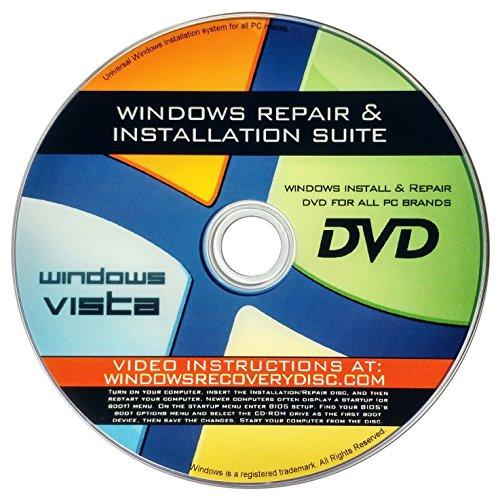 Windows Vista Re-Install, Neuinstallation, Reparatur, Wiederherstellung für alle 32 Bit, 64 Bit-PCs, einschließlich HP, Lenovo, Dell, Toshiba, Sony, Asus, Acer, Compaq, Samsung - Hp Compaq-system