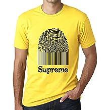 One in the City Supreme Fingerprint, Camisetas Hombre, Camiseta Amarilla, Camiseta Regalo