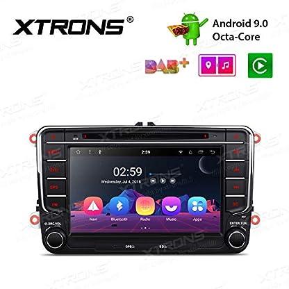 XTRONS-7-Android-90-Autoradio-Octa-Core-2GB-RAM-16GB-ROM-mit-Touchscreen-DVD-Player-Autostereo-unterstzt-4K-Video-WiFi-4G-Bluetooth-DAB-OBD2-FR-VolkswagenSkodaSeat