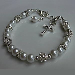 Erstkommunion geschenk Armband, Perlen Armband, Mädchen schmuck