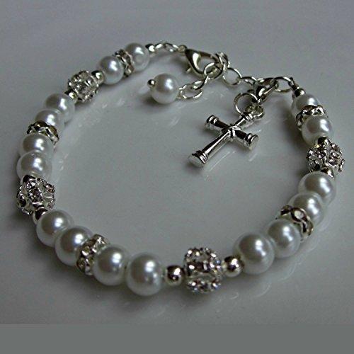 Erstkommunion geschenk Armband, Perlen Armband, Mädchen schmuck (Erstkommunion-geschenk Für Mädchen)