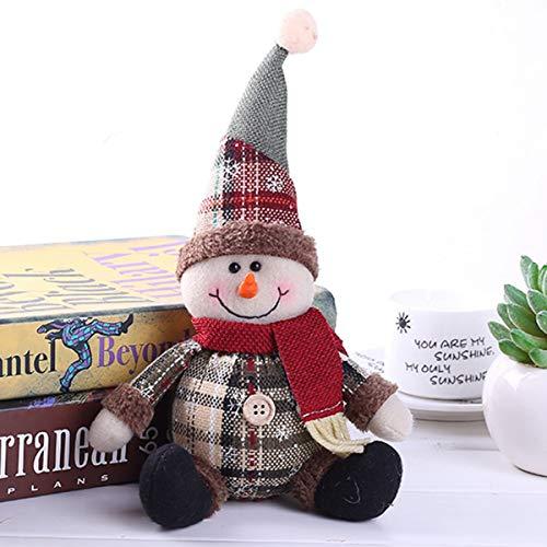 Nosii Weihnachtsmann Schneemann Elch Puppe Ornament Festival Party Weihnachten Table Decor Puppe (Color : Snowman) -
