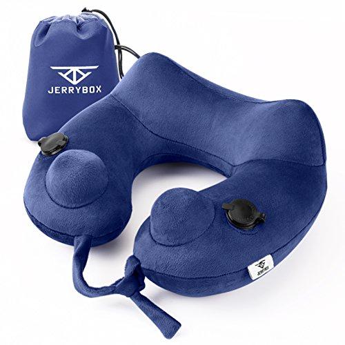 Cuscino JerryBox gonfiabile – Si gonfia in 10 secondi! Con fodera in velluto lavabile e sacchettino per trasporto