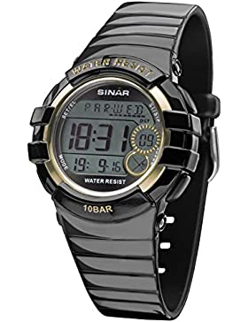Sinar xa-20–15–Armbanduhr Unisex, Armband aus Kunstharz Farbe Schwarz