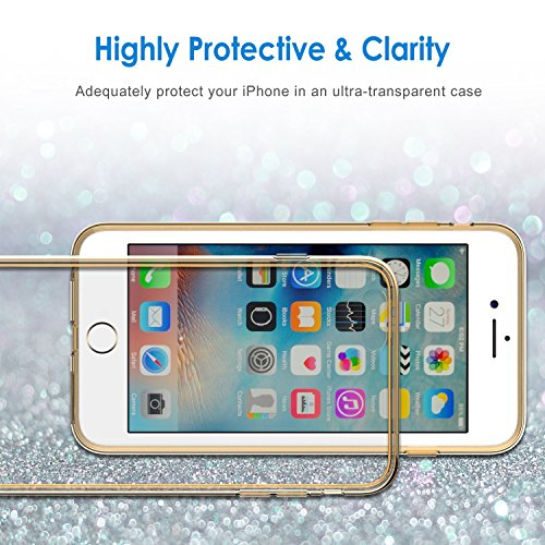 """iPhone 6s Coque, JETech à iPhone 6/6s Case Coque Housse Etui Shock-Absorption Bumper et Anti-Scratch Effacer Back pour Apple iPhone 6 6s 4.7"""" (Bumper - HD Clair) Or"""