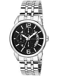 Laurels Black Color Date Analog Men's Watch With Metal Chain: LWM-AST-VI-020707