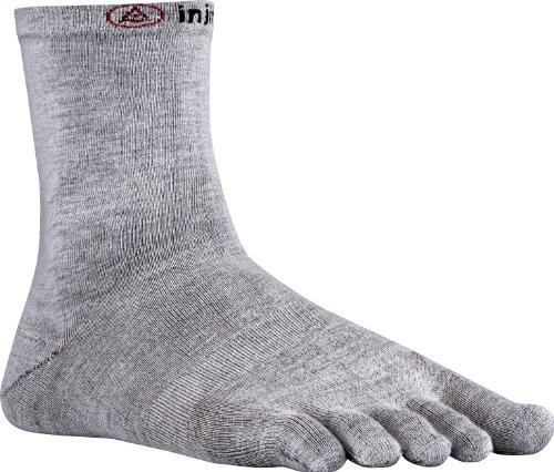 Injinji Liner Crew Socken-Grey-M (Injinji Liner Socken)