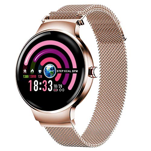 TUANMEIFADONGJI Damen Smart Watch Bluetooth Fitness Tracker IP67 Wasserdichte Farb-Touchscreen-Uhr mit ganztägiger Herzfrequenz-Aktivitätsperiode Tracking