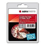 AgfaPhoto APCCLI8SETD MP800 mit Chip PGI-5 BK / CLI-8 BCMY Bonuspack Tintenpatrone für Canon