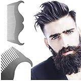 SCYTSD Barba De Acero Inoxidable Que Forma El Peine De la Plantilla Que Afeita El Peine Que Forma Las Herramientas del Pelo