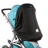 Baby Sonnensegel für Kinderwagen von joyren Verdunkelungsrollo für Kinderwagen/Kinderwagen mit UV-Schutz winddicht schwarz