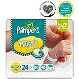Pampers Micro Nouveau Pack Couches Pour Bébés Taille 0 De Transport - 24 Langes