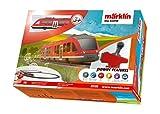 Märklin My World Lint Startpackung Nahverkehr Einsteiger-Set Modelleisenbahn Akkubetrieben H0 Infrarot-Steuergerät mit Stellhebel inklusive Schienen