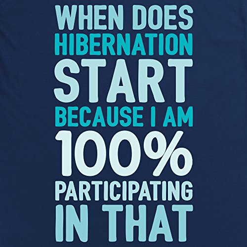Hibernation T-shirt, Uomo Blu navy