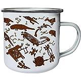 Nuevo Africano Indígena Alicatado Retro, lata, taza del esmalte 10oz/280ml l438e