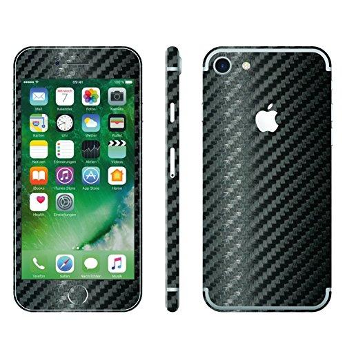 IPHONE 7 SCHWARZ CARBON FOLIE SKIN ZUM AUFKLEBEN bumper case cover schutzhülle i phone