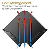 CASEBOT Wall Mount Bracket Holder for All-New Fire TV 4K (2017 Edition), Black