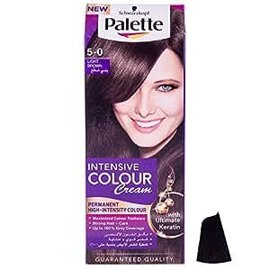 Henkel Palette Intensive Colour Cream, 5-0 Light Brown, 110ml
