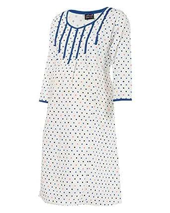 Ziva Maternity Wear Women's Cotton Round Neck Kurta (ZMN1439_White printed_XXL, White, XXL)