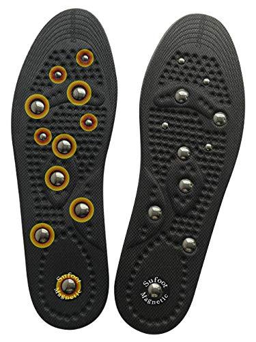Sufoot® Premium Magnetische Reflexzonenmassage Akupressureffekt Fördert Kreislaufmüdigkeit Relieftherapie Massage Orthetik Abnehmen Einlegesohlen Schuheinlagen Pads für Männer -