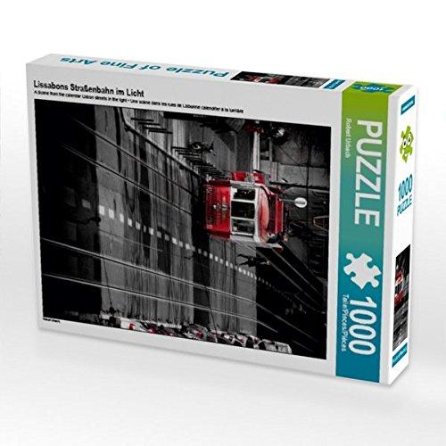 Preisvergleich Produktbild Lissabons Straßenbahn im Licht 1000 Teile Puzzle hoch (CALVENDO Orte)