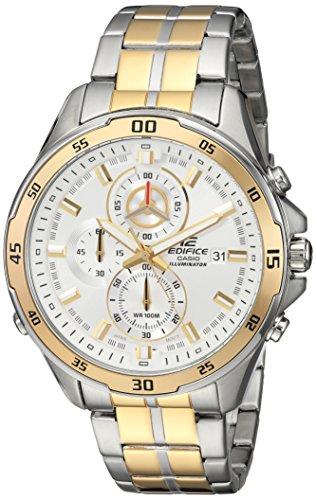 Casio Men's Analog Quartz Watch with Stainless-Steel Strap EFR547SG-7A9V