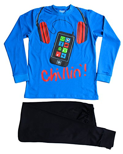 ThePyjamaFactory - Pijama dos piezas - para niño azul azul 13-14 Años