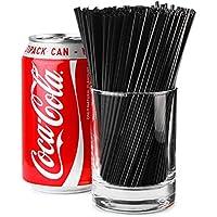 Sip Straws 5inch Black - Box of 1000 | 3mm Cocktail Straws