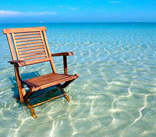 fauteuil en teck huilé modèle pliant, fauteuil de jardin