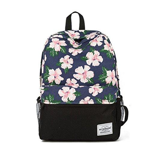 Winnerbag unico zaino Stampa donne Bookbags floreali zaino in tela di sacco scuola per ragazze zaino femmina zaino di viaggio