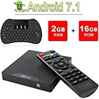 VGROUND TV Box Android 7.1 W95 Android TV Box con Amlogic S905W Quad-Core, 2 GB di RAM 16 GB ROM, 4K UHD, Wi-Fi e LAN VP9 DLNA H.265 integrati